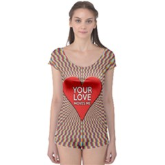 Your Love Moves Me Short Sleeve Leotard