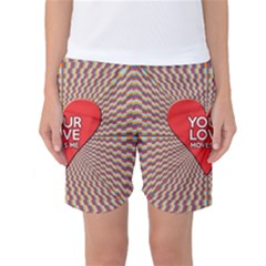 Your Love Moves Me Women s Basketball Shorts