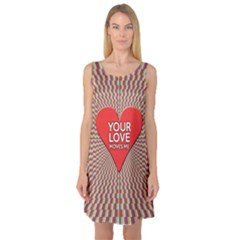 Your Love Moves Me Sleeveless Satin Nightdresses
