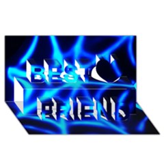 Neon web Best Friends 3D Greeting Card (8x4)