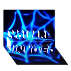 Neon web YOU ARE INVITED 3D Greeting Card (7x5)