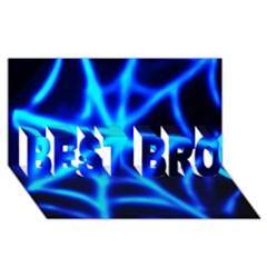 Neon Web Best Bro 3d Greeting Card (8x4)