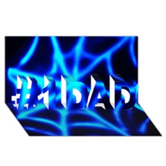 Neon Web #1 Dad 3d Greeting Card (8x4)