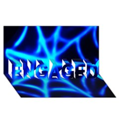 Neon web ENGAGED 3D Greeting Card (8x4)