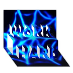 Neon web WORK HARD 3D Greeting Card (7x5)