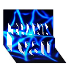 Neon web THANK YOU 3D Greeting Card (7x5)