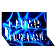 Neon web Laugh Live Love 3D Greeting Card (8x4)