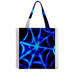 Neon web Zipper Grocery Tote Bags