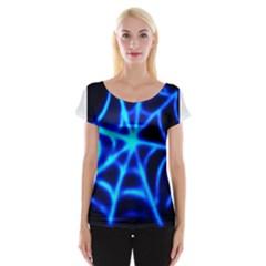 Neon web Women s Cap Sleeve Top