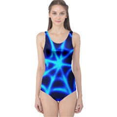 Neon web Women s One Piece Swimsuits