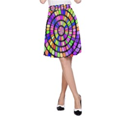 Colorful whirlpool A-line Skirt