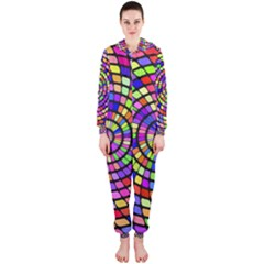 Colorful Whirlpool Hooded Onepiece Jumpsuit