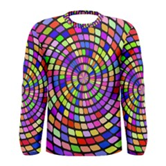 Colorful Whirlpool Men Long Sleeve T Shirt