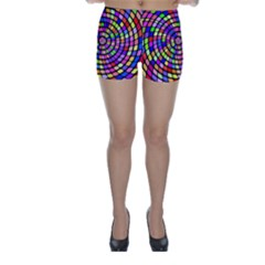 Colorful Whirlpool Skinny Shorts