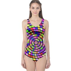 Colorful Whirlpool Women s One Piece Swimsuit