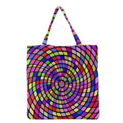 Colorful whirlpool Grocery Tote Bag