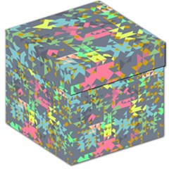 Pastel scattered pieces Storage Stool