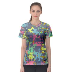Pastel scattered pieces Women s Sport Mesh Tee