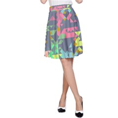 Pastel scattered pieces A-line Skirt