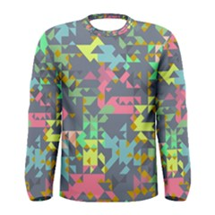 Pastel scattered pieces Men Long Sleeve T-shirt