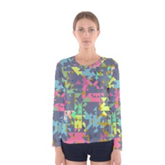 Pastel scattered pieces Women Long Sleeve T-shirt