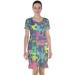 Pastel Scattered Pieces Short Sleeve Nightdress