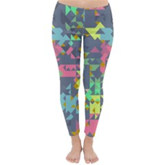Pastel Scattered Pieces Winter Leggings