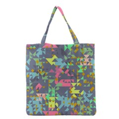 Pastel Scattered Pieces Grocery Tote Bag