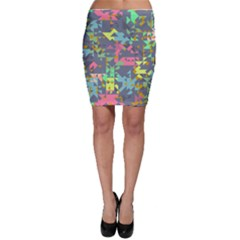 Pastel scattered pieces Bodycon Skirt
