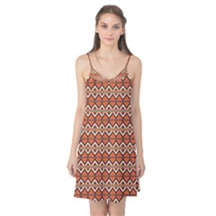 Brown orange rhombus pattern Camis Nightgown