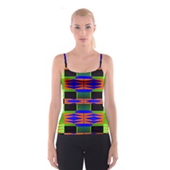 Distorted shapes pattern Spaghetti Strap Top