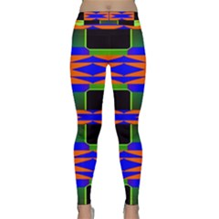 Distorted Shapes Pattern Yoga Leggings