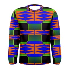 Distorted shapes pattern Men Long Sleeve T-shirt