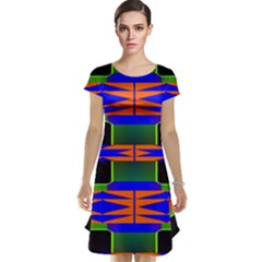 Distorted shapes pattern Cap Sleeve Nightdress