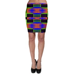 Distorted shapes pattern Bodycon Skirt