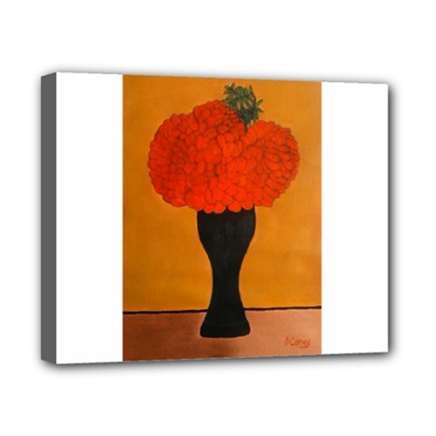 Flower Painting Canvas 10  X 8