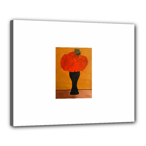 Flower Painting Canvas 20  X 16