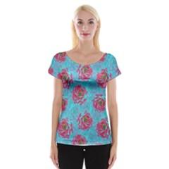 Rose Women s Cap Sleeve Top
