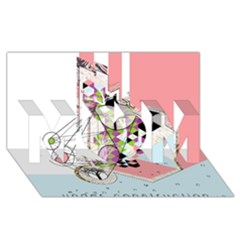 Under Construction MOM 3D Greeting Card (8x4)