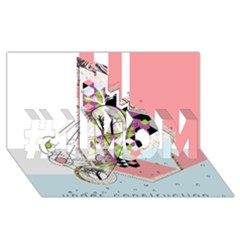 Under Construction #1 Mom 3d Greeting Cards (8x4)