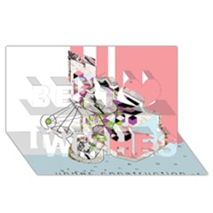 Under Construction Best Wish 3D Greeting Card (8x4)