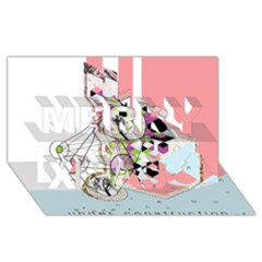 Under Construction Merry Xmas 3d Greeting Card (8x4)