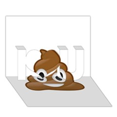 Poop I Love You 3d Greeting Card (7x5)