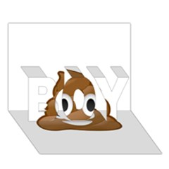 Poop BOY 3D Greeting Card (7x5)