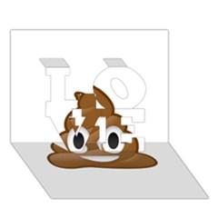 Poop Love 3d Greeting Card (7x5)