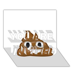 Poop YOU ARE INVITED 3D Greeting Card (7x5)