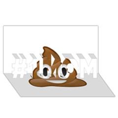 Poop #1 MOM 3D Greeting Cards (8x4)