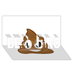 Poop BEST BRO 3D Greeting Card (8x4)