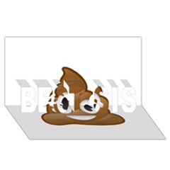 Poop BEST SIS 3D Greeting Card (8x4)