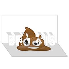 Poop Best Sis 3d Greeting Card (8x4)